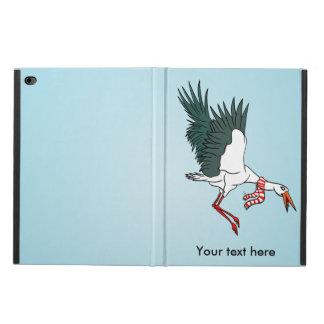 首スカーフを身に着けている飛んでいるなクレーン POWIS iPad AIR 2 ケース