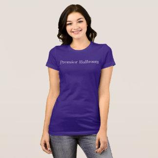 首位のBallroom細適合のジャージーのTシャツの紫色 Tシャツ