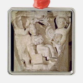 首都描写するレリーフ、浮き彫り メタルオーナメント