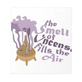 香は空気を満たします ノートパッド