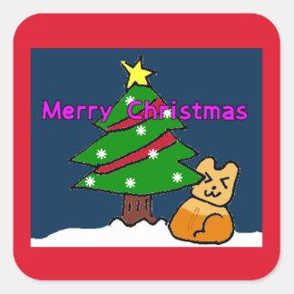 香るやつらクリスマスシール2-3 正方形シール・ステッカー