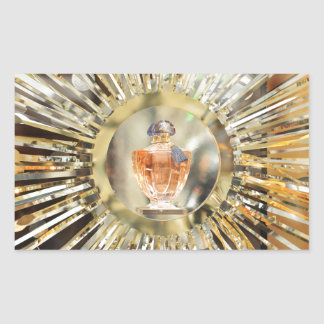 香水瓶 長方形シール