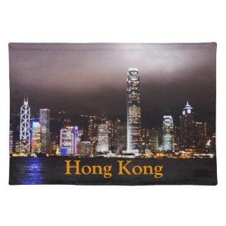 香港のスカイラインのランチョンマット ランチョンマット