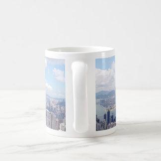 香港のスカイライン コーヒーマグカップ