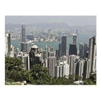 香港のスカイライン ポストカード