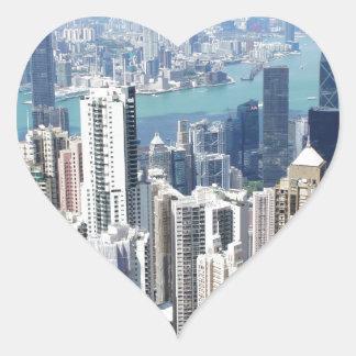 香港のピーク ハートシール