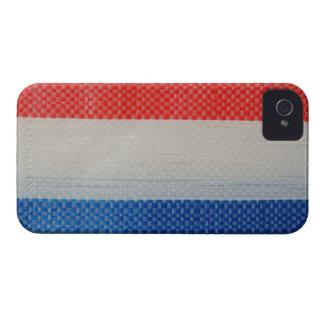 香港のヴィンテージの赤く白いおよび青のストリップ Case-Mate iPhone 4 ケース
