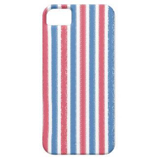 香港のヴィンテージの赤白青パターン iPhone SE/5/5s ケース