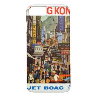 香港のヴィンテージ旅行ポスター iPhone 8/7ケース