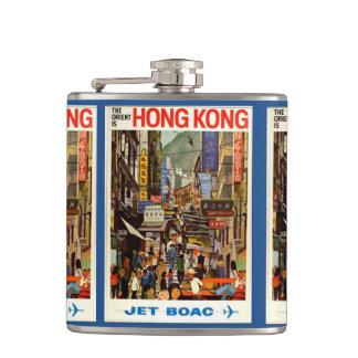 香港のヴィンテージ旅行芸術 フラスク