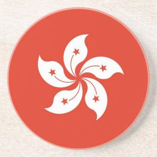 香港の中国の旗が付いているコースター コースター