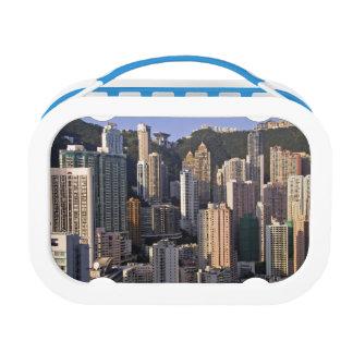 香港の中国の都市景観 ランチボックス