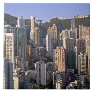 香港の中国の都市景観 正方形タイル大