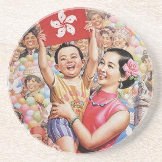 香港の旗ポスター コースター
