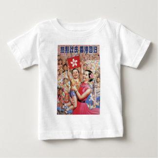 香港の旗ポスター ベビーTシャツ