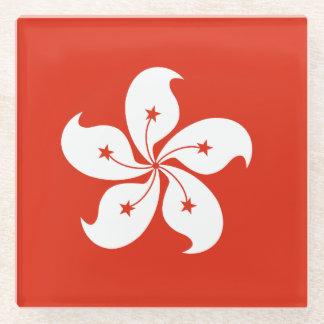 香港の旗 ガラスコースター