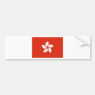 香港の旗HK バンパーステッカー