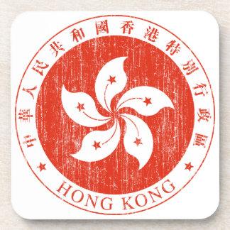 香港の紋章付き外衣 コースター
