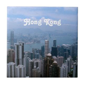 香港の都市景観 正方形タイル小