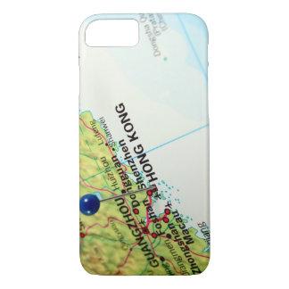 香港のPinの地図 iPhone 8/7ケース