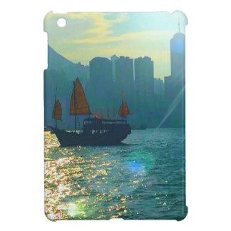 """香港ビクトリア港の水の調子""""がらくた"""" iPad MINIケース"""