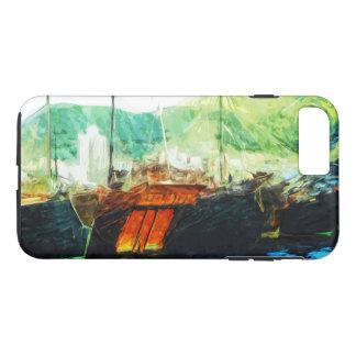 香港港の抽象芸術の印象主義のボート iPhone 8 PLUS/7 PLUSケース