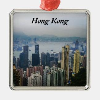 香港港の霧 メタルオーナメント