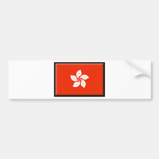 香港(中国)の旗 バンパーステッカー