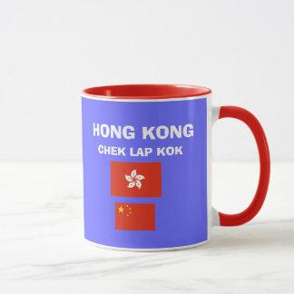 香港HKG ChekのラップのKok空港マグ マグカップ