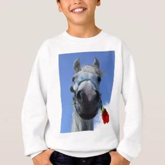 馬およびばら色愛テーマ スウェットシャツ