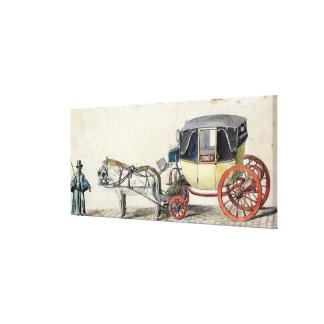 馬およびキャリッジ1825年 キャンバスプリント