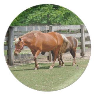 馬およびファウルのプレート プレート