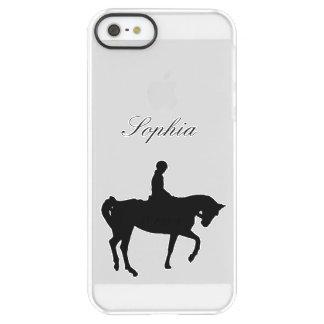 馬およびライダーのシルエット PERMAFROST iPhone SE/5/5sケース