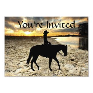 馬およびライダーの招待状 カード