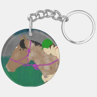馬およびライダー愛 キーホルダー
