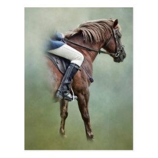 馬およびライダー ポストカード