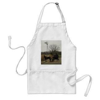 馬および乳母車および風車-アマン派の国、オハイオ州 スタンダードエプロン