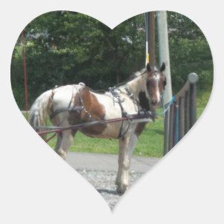 馬および乳母車 ハートシール