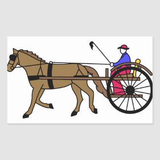 馬および乳母車 長方形シール