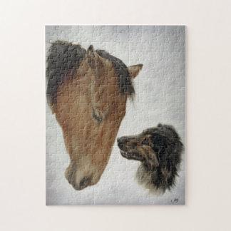 馬および犬のパズル ジグソーパズル