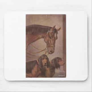 馬および猟犬 マウスパッド
