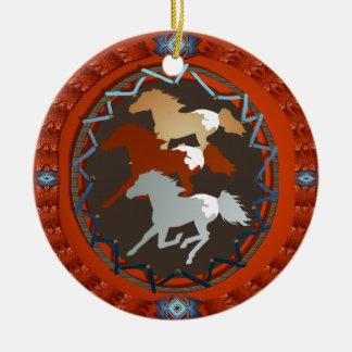 馬および盾オーナメント セラミックオーナメント