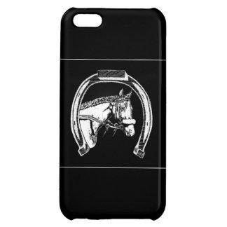 馬および蹄鉄の傷の芸術 iPhone5Cケース
