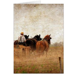 馬によって動力を与えられるフィールドワーク カード
