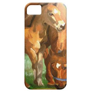 馬のお母さんおよびベビー iPhone SE/5/5s ケース