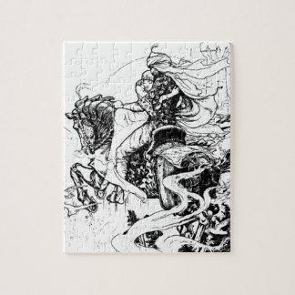 馬のアラビアンナイト騎士およびプリンセス ジグソーパズル