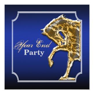 馬のウマ科のなパーティーのイベントショーの暗藍色 カード