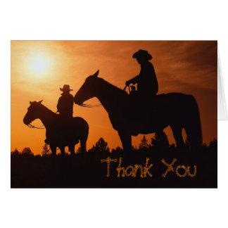 馬のカウボーイ、ノートありがとう カード