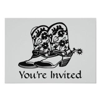 馬のカウボーイ・ブーツの招待状 カード