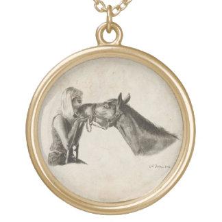 馬のキス ゴールドプレートネックレス